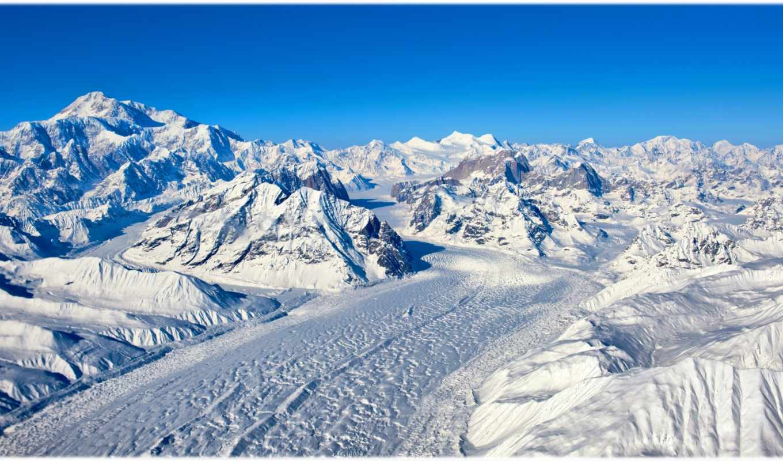 горы, снег, склоны, вершины,