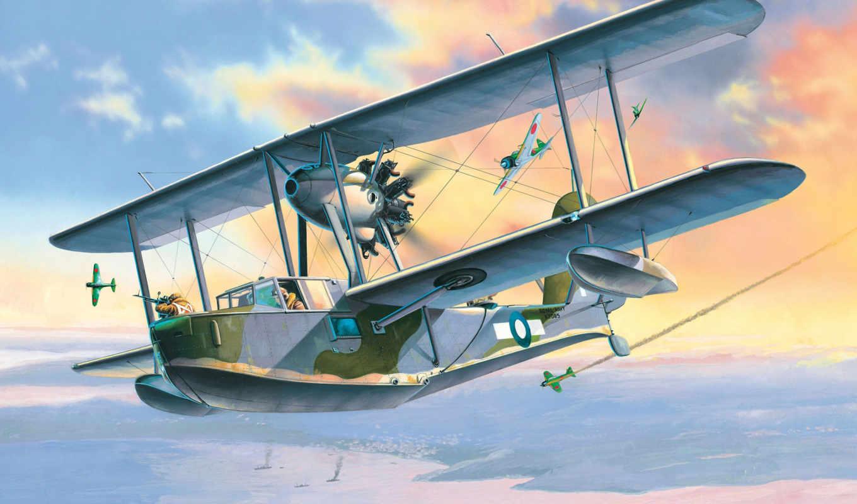 supermarine, walrus, самолёт, супермарин, валрус, арт,