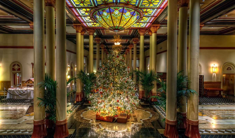 год, new, дерево, christmas, праздники,