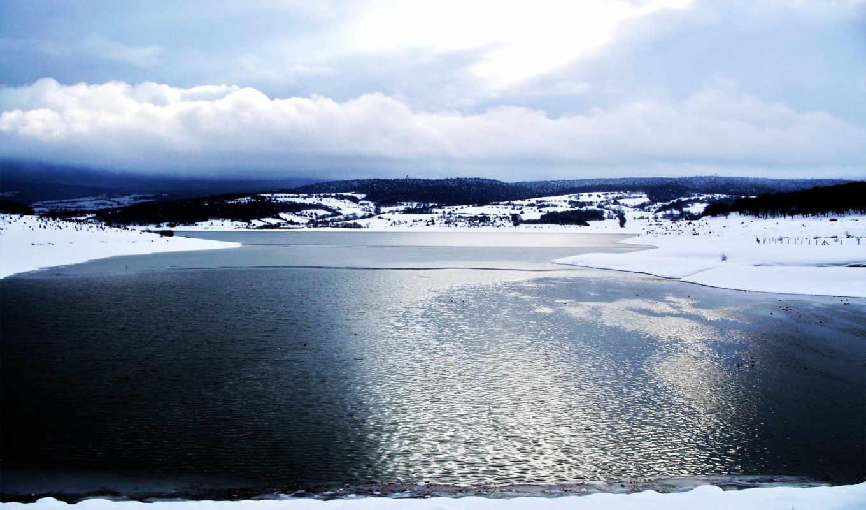 лед, озеро, water, море, картинка, снег, холод, smooth, небо, переливы,