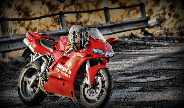 ducati, red, bike, мотоцикл,