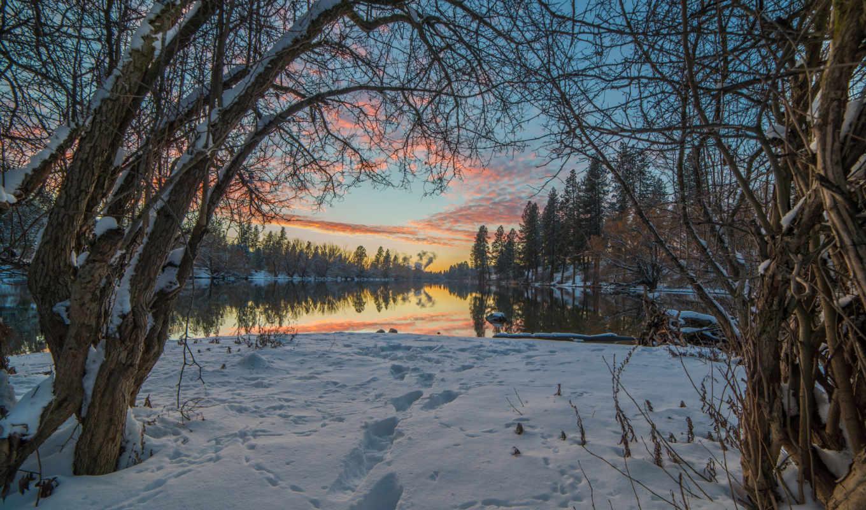природа, winter, landscape, снег, озеро, alcatel, деревя,