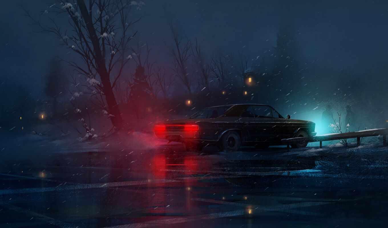 ночь, car