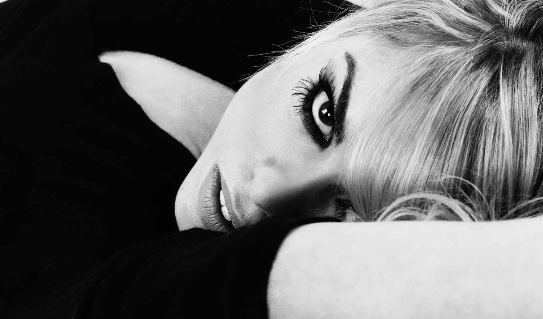 blonde, чёрно, белое, девушка, красивые, взгляд, piper, белые, billie, белая,