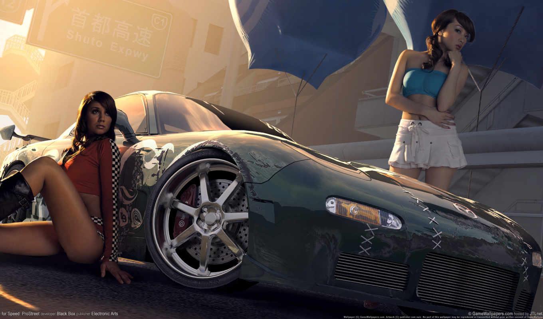 need, скорость, game, nfs, prostreet, race, широкоформатные, игры, популярные, самые,