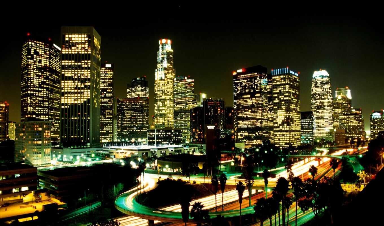 angele, angeles, los, ночь, город, огни, улица