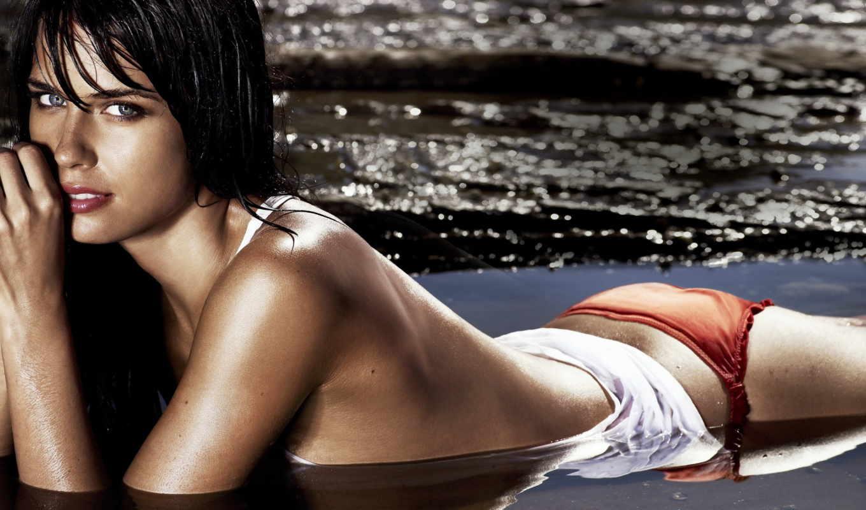 , шатенка, девушка, море, красивые, вода