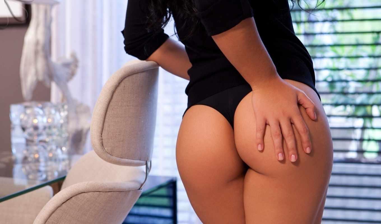 попка, красивая, женская, черное белье,