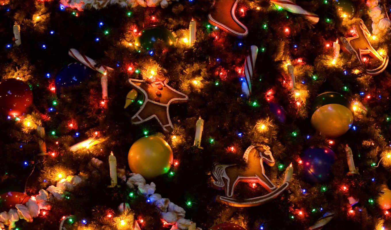 new, год, наряженная, дерево, christmas, дек,