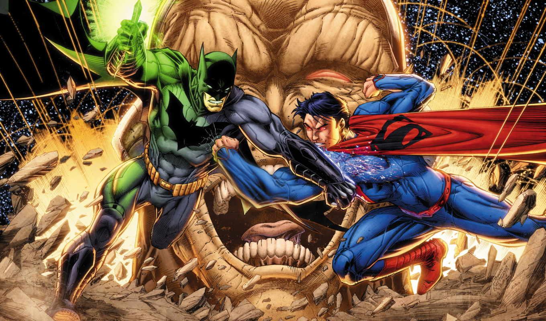 ,batman, superman, команда