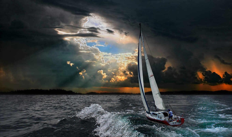 история, яхта, тихий, ocean, сниматься