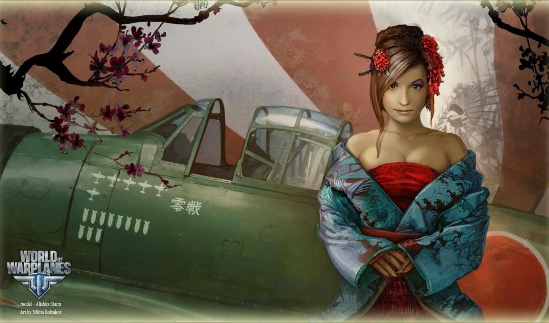 niki, warplane, world, девушка