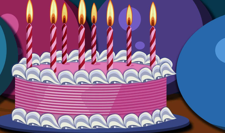 birthday, торт, десерт, еда, свечи, сладкое, background, happy, рождения, cards, free, розовый, день,