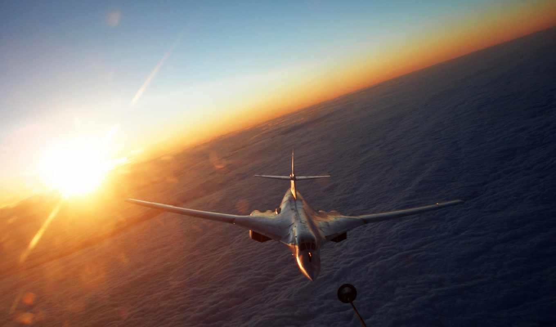 ту, ракетоносец, облака, туполев, солнце, картинка, самолёт, облока, картинку, разрешении,