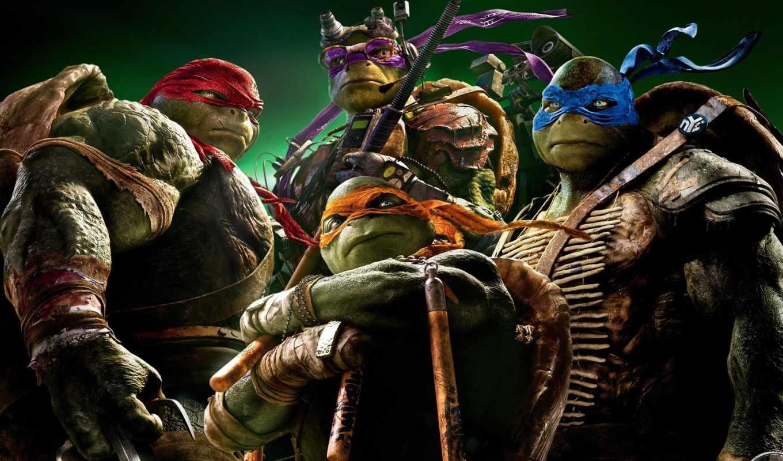 turtles, ninja, teenage, mutant, shadows, out,