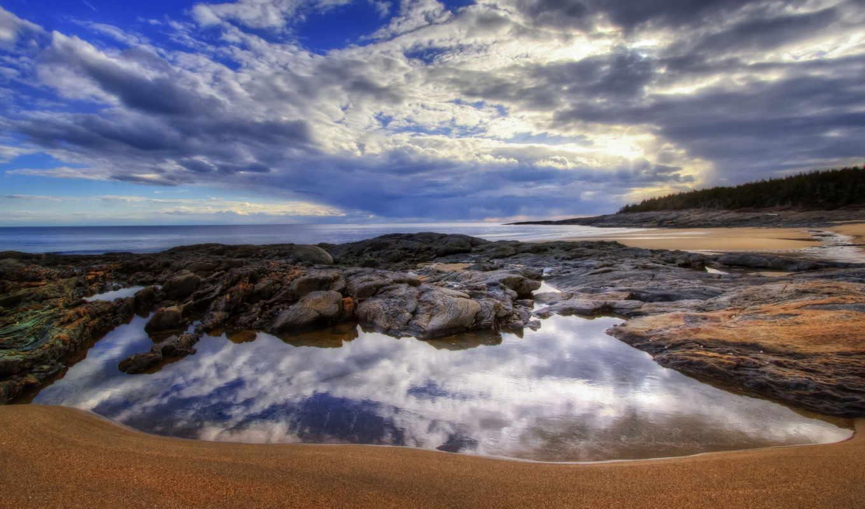 tapety, море, пляж, pulpit, desktop, galaxy,
