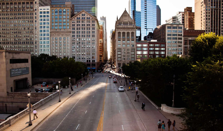 город, usa, chicago, высотки, ночь, нью, new, york,