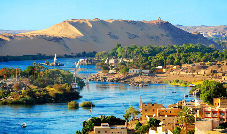 country, нил, египетский, египет, море, город, канал