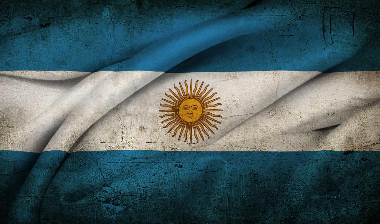флаг, аргентина, аргентины, старый, солнце,