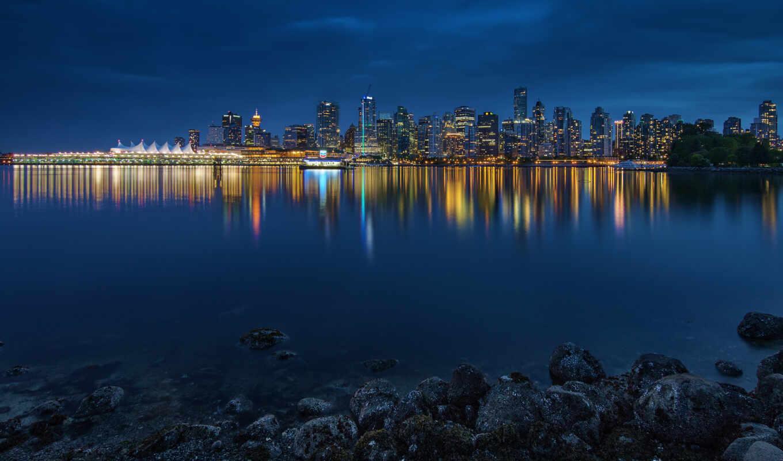 город, ultra, vancouver, панорама