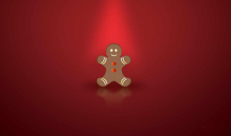 год, новый, рождество, красный, пряник, человечек, картинка, картинку, cookie,