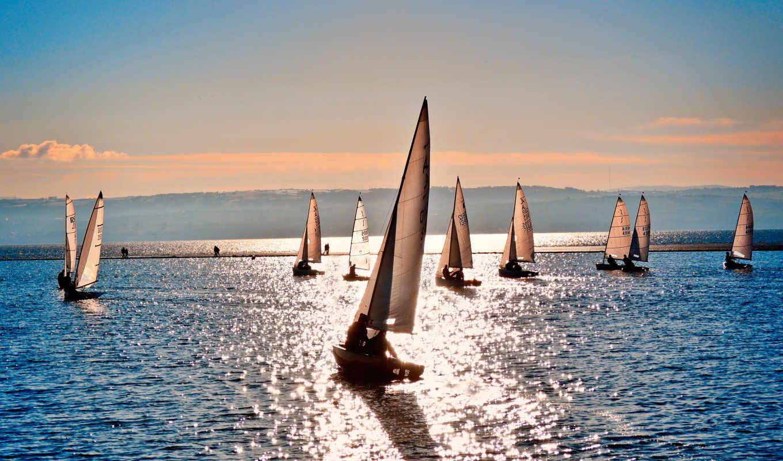 ships, море, парусники, кораблики, спорт, блеск,
