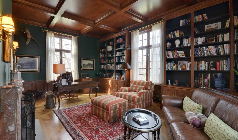 interer, кабинет, библиотека, проспект, ofis,
