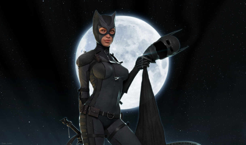 женщина, кот, маска, comics, fantasy, комиксов, catwoman, масть,