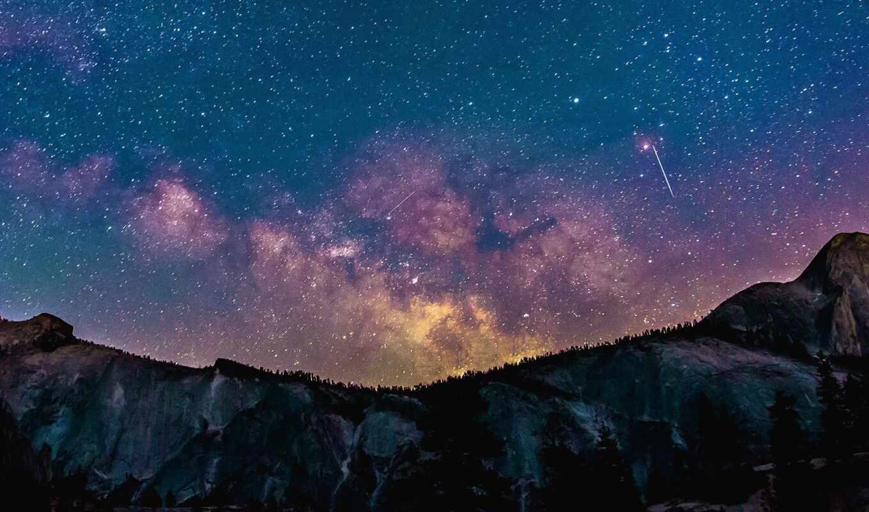 planet, bintang, dan, perbedaan, langit, malam, ди, cahaya, природа