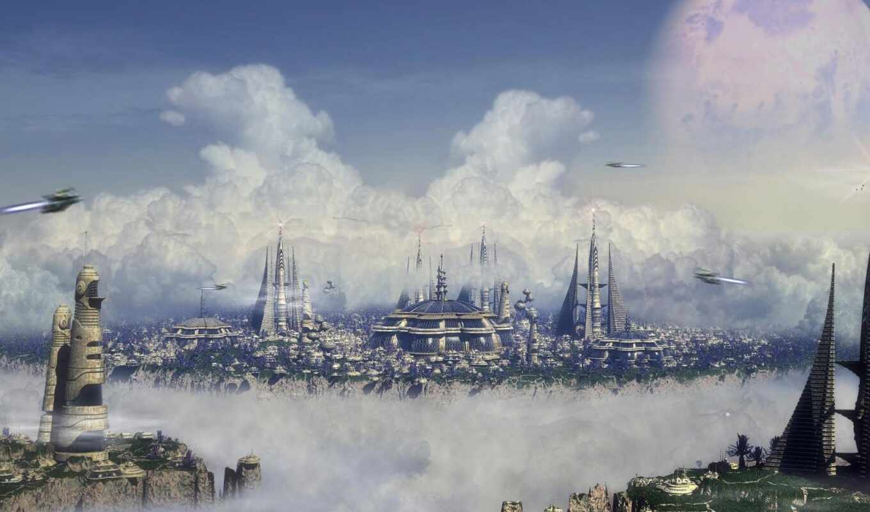 city, обои, город, будущего, будущее, future, обла