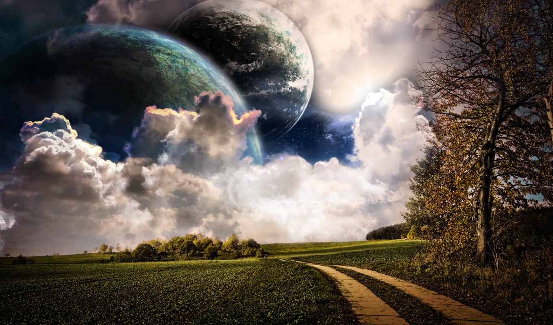 небо, фон, осень, изображение, природа, images, desktop,