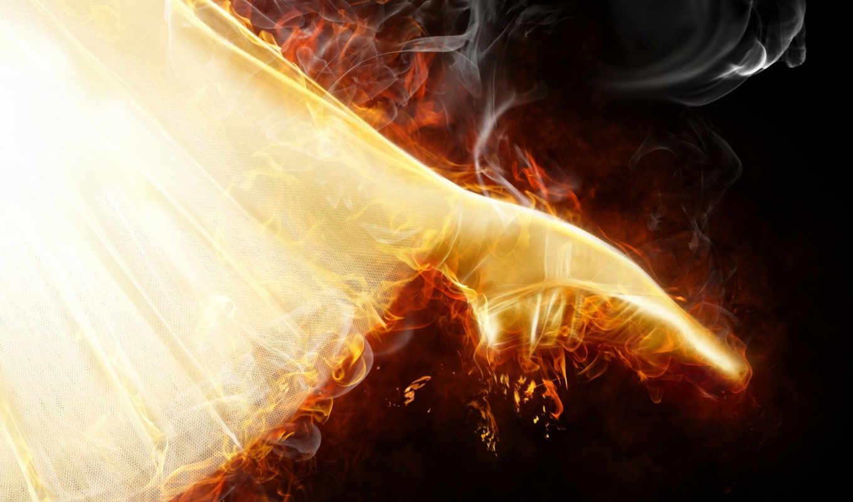 танец, яркое, черном, балет, символ, пламя, огненное, фоне, девушка, стока, со,