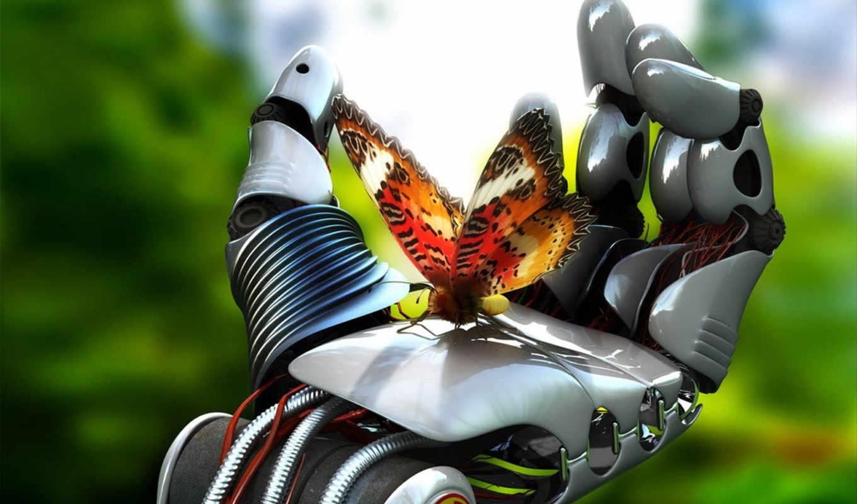 windows, desktop, background, бабочка, робот, просмотреть, mechanism, download, robotic, руке, cognition,
