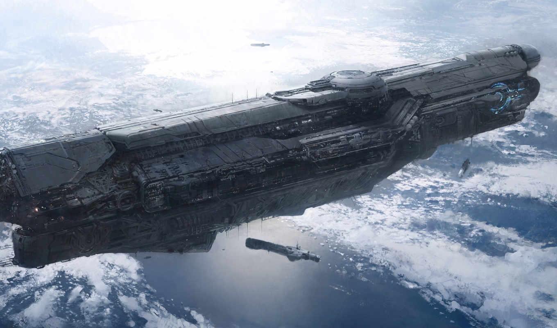 корабли, космические, башни,