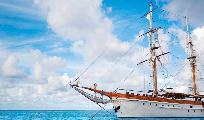 парусник, корабль,