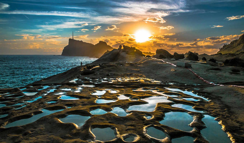 рассвет, побережье, share, landscape, china, китая, taiwan, природа, facebook, небо, море,