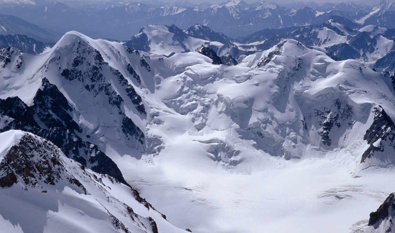 горы, заснеженные, снежные,
