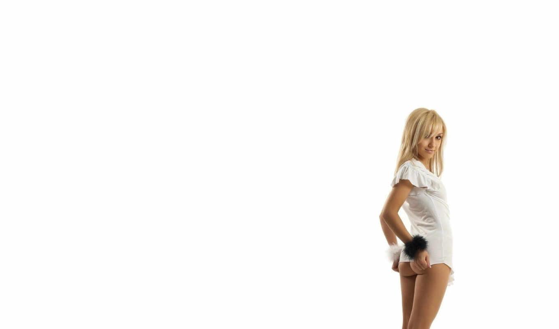попа, девушка, блондинка, взгляд, iphone, разрешением, белый, девушки, под,