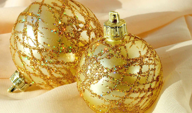 шары, праздник, год, новый, восторг, картинка, christmas, gold, игрушки,