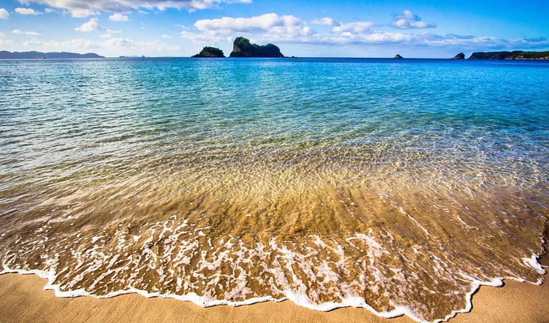 море, summer, пляж, песок, небо, облака, природа,
