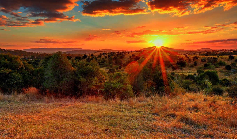 природа, красивые, заставки, фотографии, закат, дюймов, похожие, summer, озер,