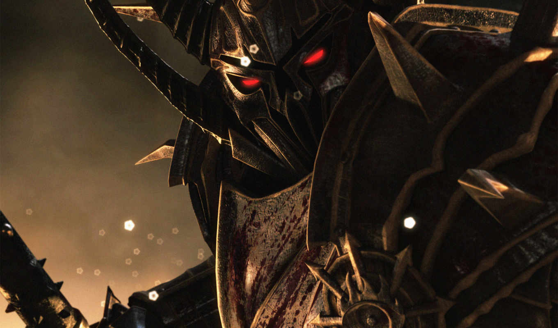 warhammer, age, reckoning, online, воин, хаос, броня, взгляд,
