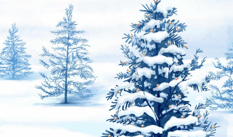 christmas, зима, snow, бесплатные, праздник, ipad, елка, trees, desktop, украшенная,