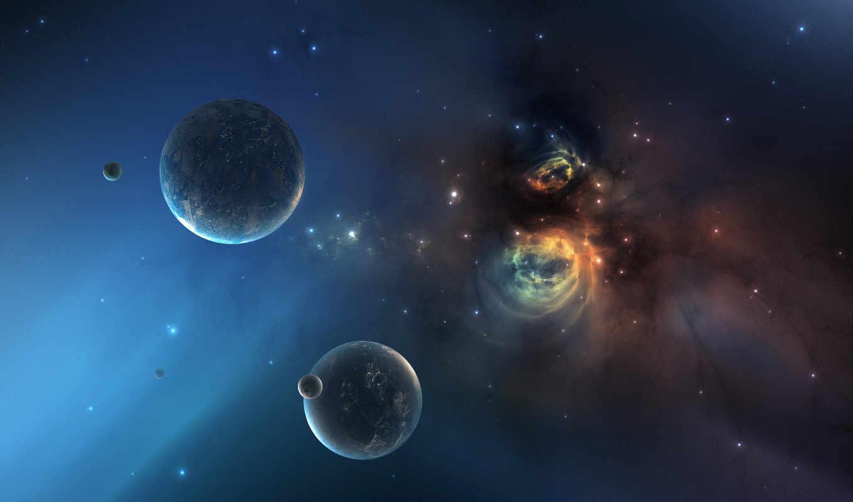 планеты, космос, million, later, звезды, years, planet, star, nebula, starfield, desktop, universe, картинка, tags, resolution,
