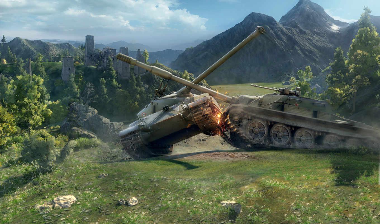 tanks, world, танки, wot, танк, средний, танков, bat, chatillon, battle,