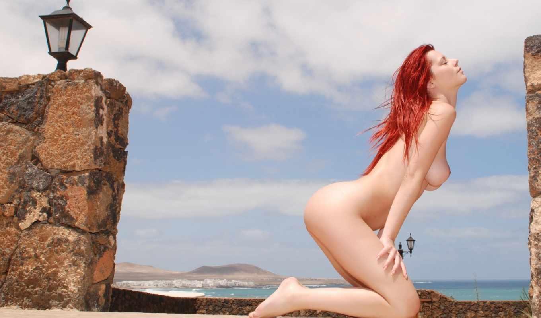ariel, эротика, piper, fawn, пляж, стена, small, redhead,