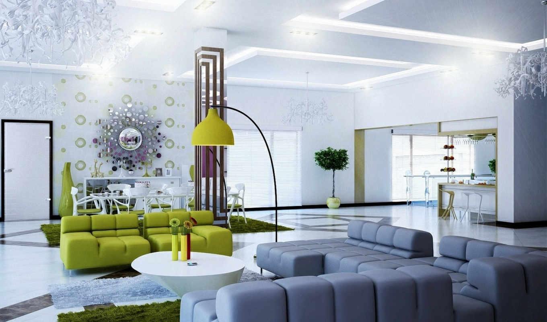 design, гостиной, современной,