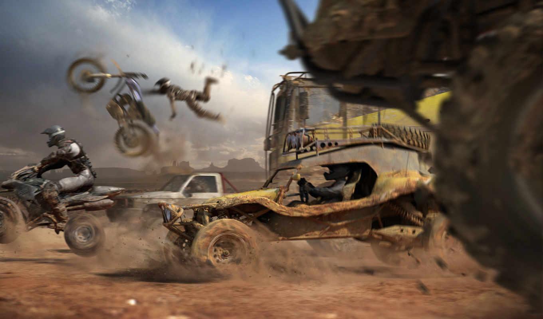 motorstorm, game, games, race, dirt, desktop, scenes, игры, desert, free,