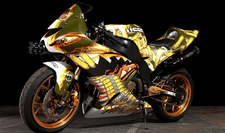 красивые, мотоцикл, мотоциклы, самые, разукрашенный, racing,