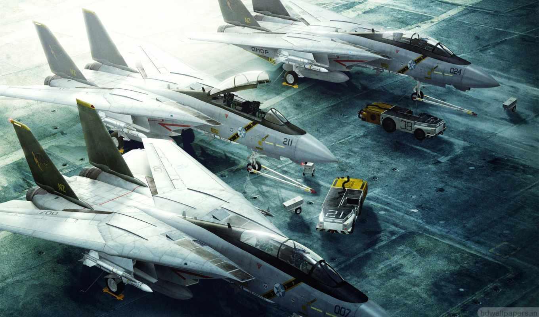tomcat, истребитель, авиация, band, самолеты, погрузчики, grumman, ace, combat, взлетная,